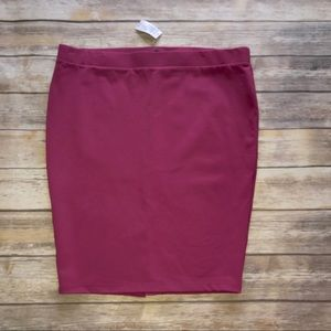 Torrid Knit Pencil Skirt Plus sz 3 3X NWT